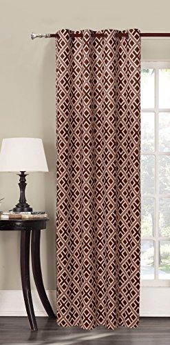 DecoKing Premium 94594 Vorhang 140x245 braun Ösenschal Fensterdekoration geometrisches Muster Blickdicht braun schoko beige cappuccino Hypnosis Triangles