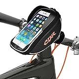 Rahmentaschen, Anlising Fahrradtaschen Wasserdichte Fahrrad-Lenkertasche für Handy GPS Navi und andere Geräte bis 6 Zoll für alle Arten von Fahrrädern