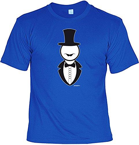 Lustiges Motiv T-Shirt / Funshirt : Gentleman -- Goodman Design bedrucktes T-Shirt Royal-Blau