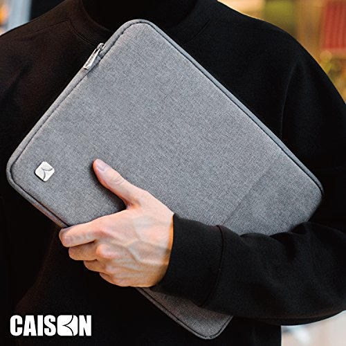 CAISON 156 Zoll Laptophlle Etui Notebook Hlle Tasche fr 156 Notebook Computer 156 Dell Inspiron 15 156 Lenovo Ideapad Y700 ThinkPad P51 T570 E570 156 ASUS Republic of Gamers Grau Hllen
