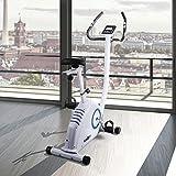 Klarfit MOBI SUPREME Fitnessbike Heimtrainer Ergometer (Trainingscomputer mit LCD-Display, Pulsmesser, 8kg Schwungrad mit magnetischem Bremssystem, 16 Widerstandsstufen, belastbar bis 120 kg) weiß - 2