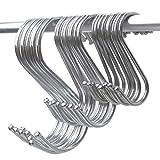 TAOtTAO 15 Pack S Geformte Haken hängen in poliertem Metall für Küche Schlafzimmer Büro