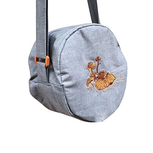 Zooboo Mönch Zen Buddha Taschen–Buddhismus Zen Single Schulter Mönch Bag chaoshan luohan Jushi Tasche von Zisha Schüssel Tasche–Baumwolle, grau