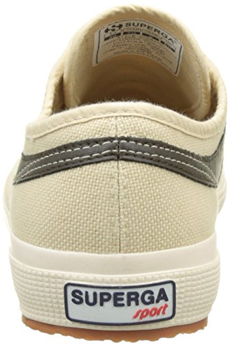 Superga 2750-Cotu Panatta, Baskets Basses Mixte Adulte Beige (Écru-Green Military)