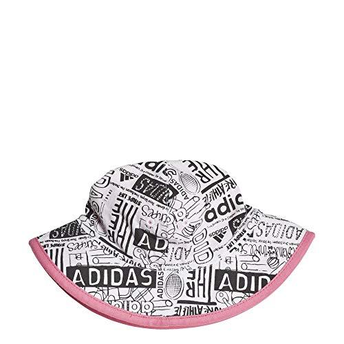 adidas Inf B/G Bucket Unisex Kinder Hut Einheitsgröße Weiß/Hellrosa/Weiß