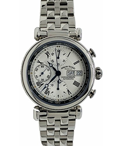 Armand Nicolet Arc Royal 9428A-AN-M9420 Chronograph Watch Stainless Steel Swiss Made White