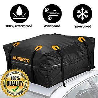 Cargo Bag, AUPERTO Roof Bags 425 Liters Storage Capacity Waterproof for Cars, Vans or SUVs 95x95x46cm (black)