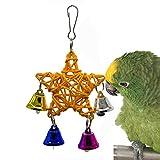 JLCYYSS Papagei Spielzeug Outdoor Windspiel Pentagram Star Rattan Vogelkäfig Spielzeug Windbells Für Yard Garten Zimmer Dekor