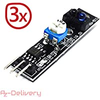 AZDelivery ⭐⭐⭐⭐⭐ 3 x KY-033 Linien Folger Line Tracking Sensor Modul TCRT5000 für Arduino