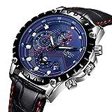 LIGE Uhren Herren Leather Wasserdicht 30M Sport Analog Quarz Uhren Herren Datum Mode Schwarz Klassische Armband