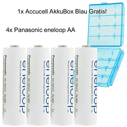 Sanyo eneloop HR-3UTGB-4BP Case AA Mignon-Akku 4-er Pack mit Case -