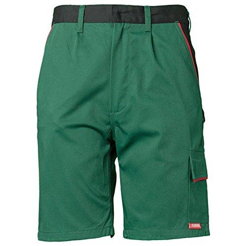 Planam Shorts Highline, größe XL, grün / schwarz / rot, 2375056