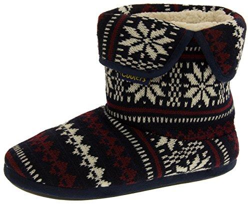 Coolers Herren Fairisle Muster Pantoffel Stiefel Blau EU 45-46