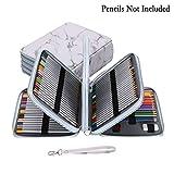 BTsky Étui de rangement en similicuir 160 compartiments pour crayons de couleur Multicouche Taille XL