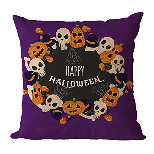 HARRYSTORE Halloween Kissenbezug Dekorative Polster Kissen Dekokissen CasesHalloween Pillowcase Decorative Upholstery Cushion Throw Pillow Cases
