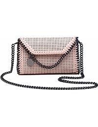 12881953add68 Rovanci Damen Handtasche Elegant Taschen Damen Shopper Schultertasche Kette  und Niete