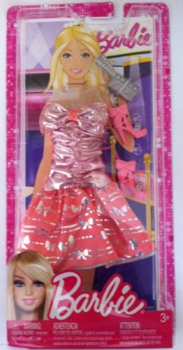 Casual Party Outfit Doll Cloth Assortment M9373 with Lavender Sleeveless Party Dress, Bag and Pair of High Heel Boots ()