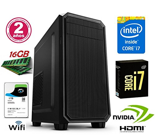 ORDENADOR SOBREMESA INTEL CORE i7 up 3.46Ghz x 4 Cores | GRÁFICA Nvidia GeForce 710 2GB | 16GB RAM | Disco Duro 1TB | RW DVD / CD