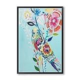 TTKX@ Moderne Ölgemälde Tier Leinwand Kunst Malerei Poster Bild Wand Haus Wanddekoration, 80X100 cm, Lila