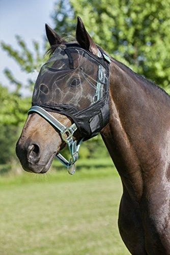 USG Fliegenmaske ohne Ohrenschutz, schwarz, Pony