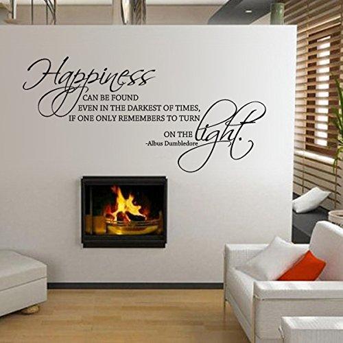 mairgwall Albus Dumbledore Zitat Glück finden Sie auch in die Dunkelheit der Mal Wohnzimmer Wand Aufkleber baby Kinderzimmer Aufkleber, Vinyl, schwarz, 22