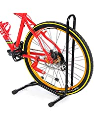 Soporte de suelo para rueda de bicicleta, gran tamaño, para guardar la bicicleta en exteriores, el garaje, etc.