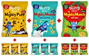 Slurrp Farm Healthy Not Fried Ragi Snacks | Combo Pack of 12 - Three Awesome Flavours (Cheese, Tomato & Ch