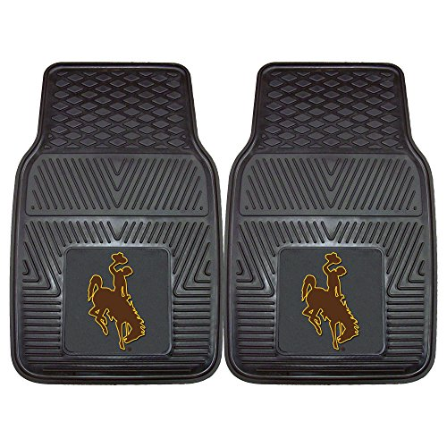 FANMATS 12921 Universität Wyoming Auto-Matte Vinyl-Set, 2-teilig -
