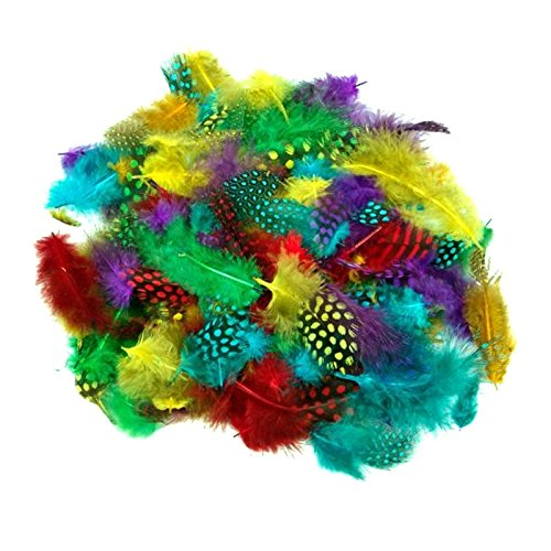 28g-Pack-of-Spotted-Feathers-Easter-Arts-Craft