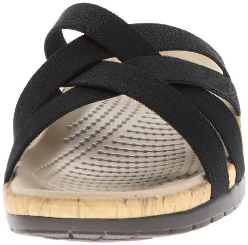 Crocs  Crocs Edie Stretch W, Damen Sandalen Schwarz (Black/Black)