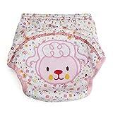 Inovey Baby Kleinkinder Cartoon Bedruckt Weiche Windel Tuch Wieder Verwendbare Abdeckung Unterwäsche - M