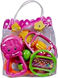 #3: Guru kripa Baby Products™ Presents New Born Baby Cute & Attractive Dugi Dugi Rattle Set Sweet Cuddle Infant Non Toxic Of JhunJhuna Lovely Mixed Colour Ful For Babies Girl And Boy Unisex Teethers Gift Set Toy With Attractive Figures (Yellow)