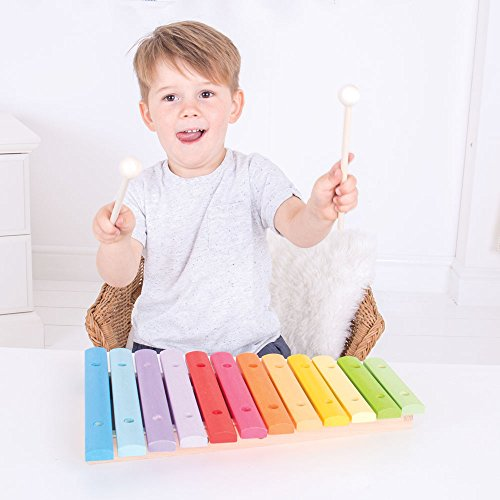 Bigjigs Toys Wooden Snazzy Xylophone - Musical Instruments for Kids