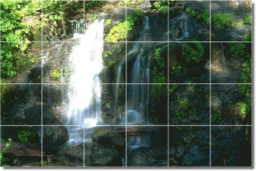 FOTOS DE CASCADAS COCINA TILE MURAL 3  32X 48CM CON (24) 8X 8AZULEJOS DE CERAMICA