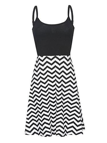 Pussy Deluxe Zig Zag Dress Mittellanges Kleid schwarz/weiß S