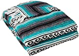 Best Yoga Direct Blankets - YogaDirect Deluxe Mexican Yoga Blanket, Turqoise Review