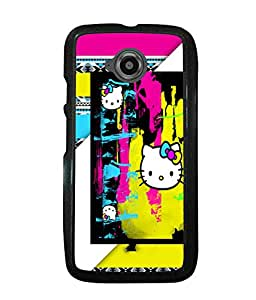 Printvisa 2D Printed Cartoon Designer back case cover for Motorola Moto E2 - D4590