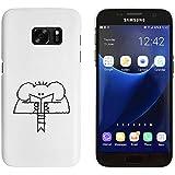 Blanco 'Lectura Elefante' Funda / Carcasa para Samsung Galaxy S7 (MC00013220)
