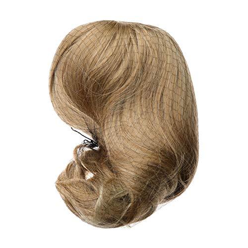 FANCYLEO EU 40cm Perücke Frauen Damen Haar Lang Wig für Karneval Fasching Cosplay Party Kostüm Blond Weiblich