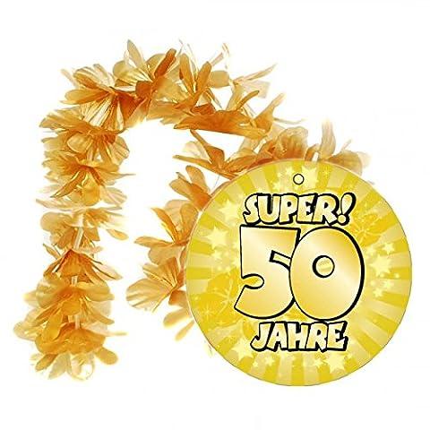 1 Geburtstag Hawai Kette 50 Jahre Goldhochzeit Party Deko