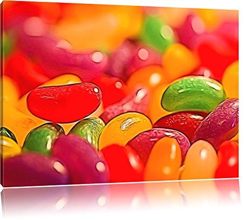 Kunterbunte Jelly Bellys Format: 120x80 sur toile, énorme XXL Photos complètement encadrée avec civière, art impression sur murale avec cadre, moins cher que la peinture ou la peinture à l'huile, aucune affiche ou un poster