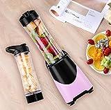 ERKEJI Batidora mini de exprimidor portátil fabricante de arena lisa con 4 cuchillas de acero inoxidable 600ml hermético perfecto para el batido de frutasAlimentos para bebés