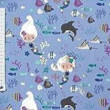 Jersey Meerjungfrau lila blau mit Schimmer