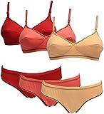 #9: Baremoda Women's Lingerie (Bra & Panty Set) Pack of 3
