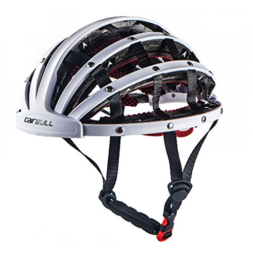 GWJ Casque De Vélo Adulte, Pliable, Trois Couleurs, Taille L (56-62 Cm),White