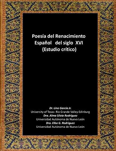 Poesía del Renacimiento Español del Siglo XVI por Lino García