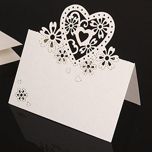 Musuntas 50Tlg Amour De Coeur Dcoup Au Laser Des Tiquettes Nom Lieu Carte Tag Sige Visite Table Cartes
