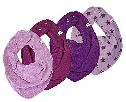 Pippi 4er Set Mädchen Baby Dreieckstuch Halstuch Lätzchen * VIOLET & STERNE