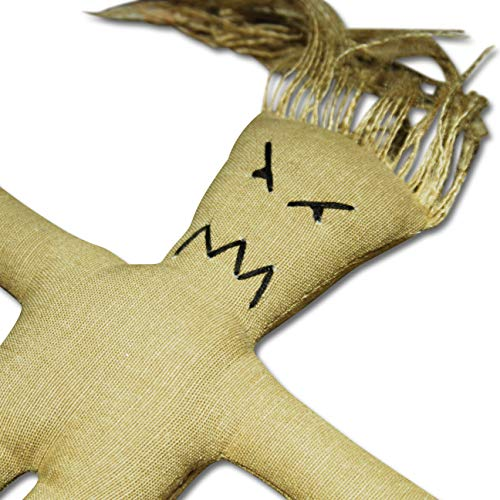 Mad Mojo Doll raw Set - Voodoo Puppe mit Voodoo Nadel und Ritual-Anleitung