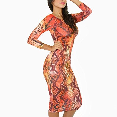 QIYUN.Z Sexy Moulante Bandage Nouvelle Mode Feminine a Manches Longues Club De Partie Robe Rouge De Midi Chaude Combinaisons Rouge